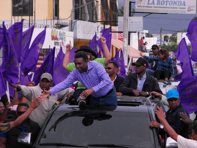 Félix Bautista no participó en marcha-caravana con Gonzalo en San Juan; fue sustituido por Lucía Medina